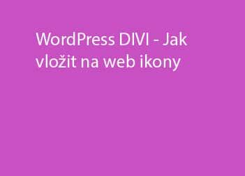 Jak vložit na web ikony – DIVI šablona WordPress