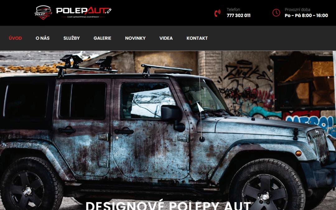 Webové stránky designový polep aut
